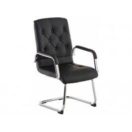 Konferenční židle Barbara, ekokůže, černá - výprodej S191151801 DMQ+