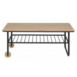 Konferenční stolek Debra, kovová podnož, dub SCHDN0000075374 SCANDI