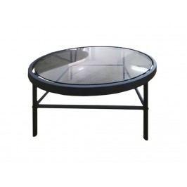 Konferenční stolek Tonya, kulatý, kovová podnož SCHDN0000075576 SCANDI