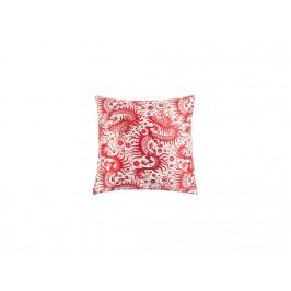 Polštář WLL JOAN, hedvábná tkanina, červená 8600070 White Label Living