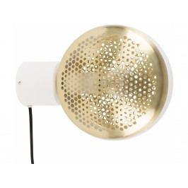 Nástěnné světlo ZUIVER GRINGO, bílá/mosaz 5400013 Zuiver