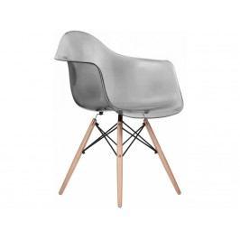 Designová židle DAW, transparentní kouřová, buk - výprodej S5046814 CULTY +