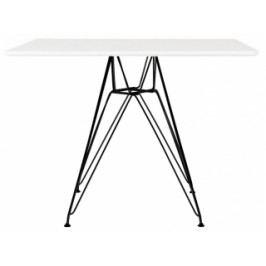 Designový jídelní stůl DSR 100x100, bílá (RAL 9005)  kh:2940 Culty Gold
