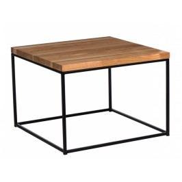 Konferenční stolek Crate 60x60, 15 mm černý kov/třešeň 85879 CULTY