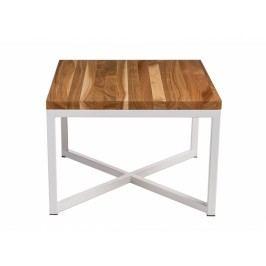 Konferenční stolek Tacros 45x45, 30 mm, bílý kov/třešeň 86101 CULTY