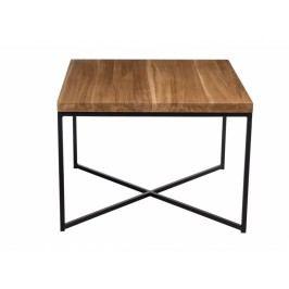 Konferenční stolek Tacros 100x100, 15 mm, černý kov/dub 86131 CULTY