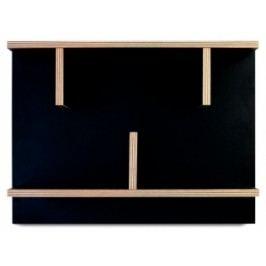 Nástěnná knihovna Rita, 60 cm (Překližka, černá)  9000.318085 Porto Deco