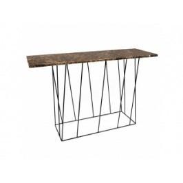 Toaletní stolek Rofus, mramor (Hnědá, černá podnož)  9500.627460 Porto Deco