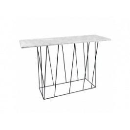 Toaletní stolek Rofus, mramor (Bílá, černá podnož)  9500.627460 Porto Deco