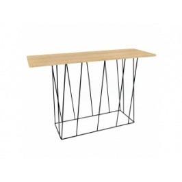 Toaletní stolek Rofus (Dub, černá podnož)  9500.626982 Porto Deco