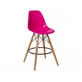 Designová barová židle DSW, tmavě růžová 84954 CULTY