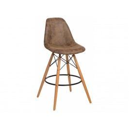 Designová barová židle DSW čalouněná, tmavě hnědá 85003 CULTY