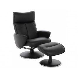 Relaxační křeslo s podnožkou Sunray, černá SCHDN0000063247 SCANDI
