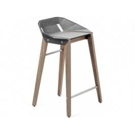 Barová židle Tabanda DIAGO, 62cm, ořechová podnož, plst (RAL9004)  diago62orech_plst Tabanda