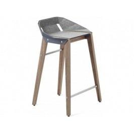 Barová židle Tabanda DIAGO, 62cm, ořechová podnož, plst (RAL7031)  diago62orech_plst Tabanda