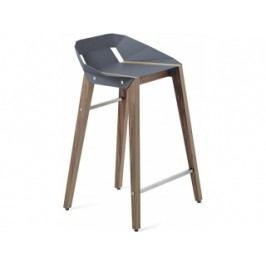 Barová židle Tabanda DIAGO, 62cm, ořechová podnož (RAL7031)  diago62orech Tabanda