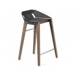 Barová židle Tabanda DIAGO, 62cm, ořechová podnož (RAL7015)  diago62orech Tabanda