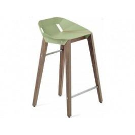 Barová židle Tabanda DIAGO, 62cm, ořechová podnož (RAL6021)  diago62orech Tabanda