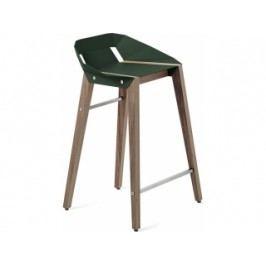 Barová židle Tabanda DIAGO, 62cm, ořechová podnož (RAL6005)  diago62orech Tabanda
