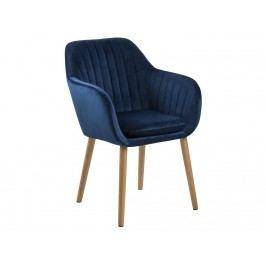 Jídelní židle s prošíváním Milla, modrá SCHDN0000071834 SCANDI