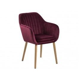 Jídelní židle s prošíváním Milla, bordová SCHDN0000071832 SCANDI