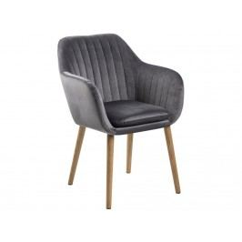 Jídelní židle s prošíváním Milla, šedá SCHDN0000071831 SCANDI