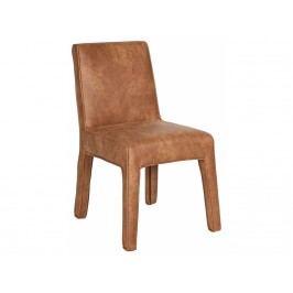 Jídelní celočalouněná židle Raden, hnědá dee:800540-C Hoorns