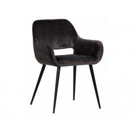 Jídelní židle Monky, tmavě šedý samet dee:375466-G Hoorns