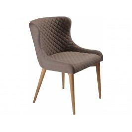 Židle DanForm Vetro, světle hnědá látka, podnož dubová dýha DF100232521S DAN FORM
