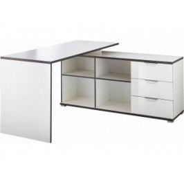 Kancelářský stůl s regálem Germania 4081 (Bílá)  4081 GERMANIA