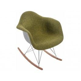 Designové houpací křeslo RAR, šedá/zelená 80636 CULTY