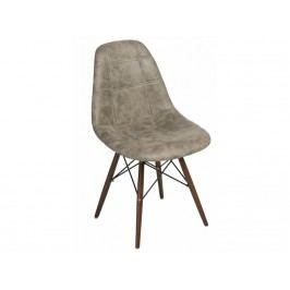 Židle DSW celočalouněná šedá, tmavá podnož 82632 CULTY