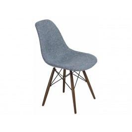 Židle DSW celočalouněná modrá/šedá, tmavá podnož 80502 CULTY
