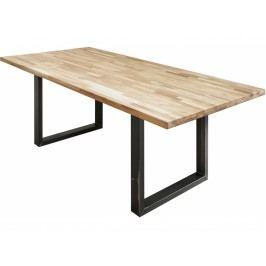 Jídelní stůl Logan, 180 cm, naolejovaný dub, černá podnož in:36922 CULTY HOME