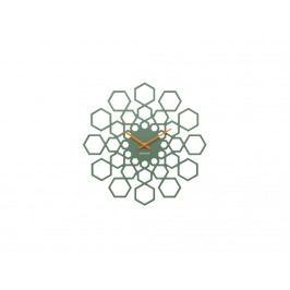 Nástěnné hodiny Lotus, 48 cm, zelená tfh-KA5639GR Time for home