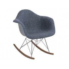 Designové houpací křeslo RAR, šedá/modrá 80624 CULTY