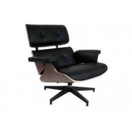 Designové křeslo Lounge chair, černá, ořech 25478 CULTY