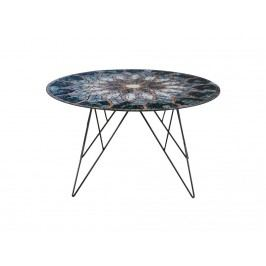 Konferenční stolek Stark, 80 cm, sklo s potiskem SCHDNH000016789 SCANDI