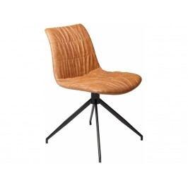 Židle DanForm Dazz, světle hnědá ekokůže DF100690510 DAN FORM
