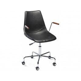 Kancelářská židle DanForm Cross, černá, pravá kůže DF700770300 DAN FORM