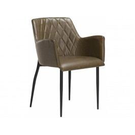 Židle DanForm Rombo, světle hnědá ekokůže DF100690470 DAN FORM