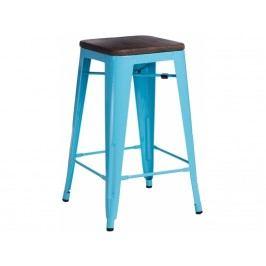 Barová židle Tolix 75, modrá/tmavé dřevo 72885 CULTY