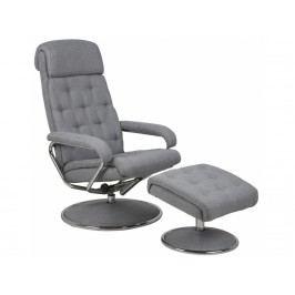 Relaxační křeslo s podnožkou Luxure, šedá SCHDN0000065209 SCANDI