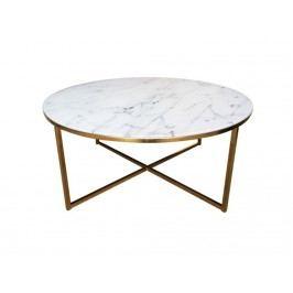 Konferenční stolek Venice, zlatá podnož, 80 cm SCHDN0000057547 SCANDI