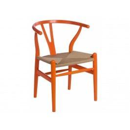 Dřevěná židle Bounce, oranžová 41513 CULTY