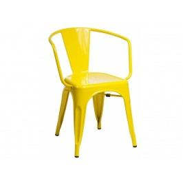 Jídelní židle Tolix 45 s područkami, žlutá 41345 CULTY