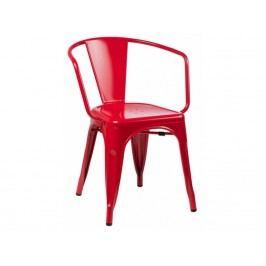 Jídelní židle Tolix 45 s područkami, červená 41349 CULTY