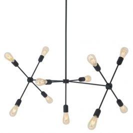 Nordic Design Černé kovové závěsné světlo Lega 11